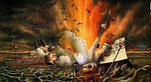 Sinking Of The Uss Maine Newspaper by The Spanish American War The Uss Maine Explosion