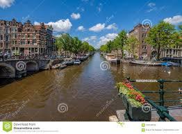 100 Brouwer Amsterdam Panoramic Vieuw In Historical Center Of Crossing