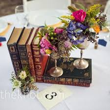 Vintage Book And Floral Centerpieces Sara Rocky Photography Flowers Annies