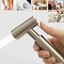 großhandel bidet spray badezimmer dusche toiletten spray dusche handhahn spray mit wand haltewinkel halter bad versorgungsmaterial zusätzen 304