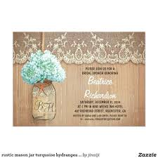 Rustic Mason Jar Turquoise Hydrangea Bridal Shower