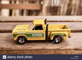 100 78 Dodge Truck Mattel Hot Wheels Yellow Toy Pick Up Truck On A Wooden
