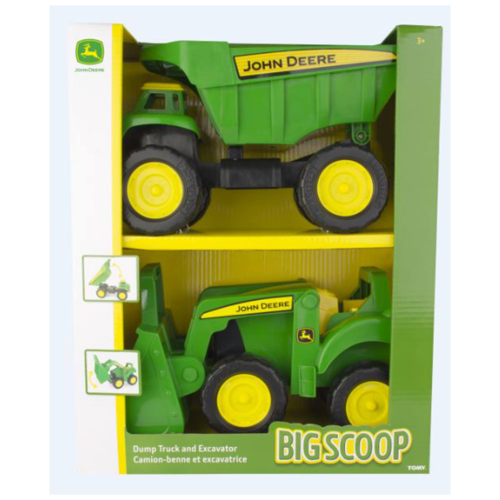 John Deere Big Scoop Dump Truck and Tractor Loader Playset
