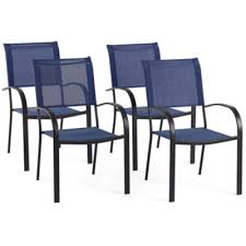 Stacking Sling Patio Chairs by Outdoor Oasis Melbourne 4 Pc Sling Stackable Patio Dining Chair