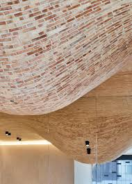 100 Brick Ceiling Bulges Embellish Ceiling Of Fucina Restaurant By Andy Martin