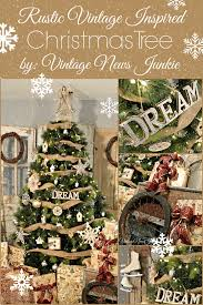 Rustic Vintage Inspired Christmas Tree Holiday