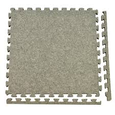 Simply Seamless Carpet Tiles Canada by Greatmats Royal Carpet Light Gray Velour Plush 2 Ft X 2 Ft X 5 8