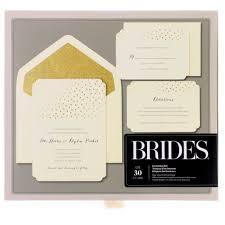 BridesR Gold Glitter Foil Dot Invitation Kit From Michaels