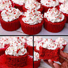 velvet cup cake eggless without oven