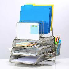 Walmart Desk File Organizer by Sunrising International Stainless Steel Modular Office Desk File