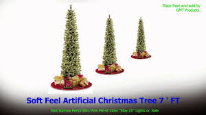 Pre Lit Christmas Trees On Sale by Christmas Tree 7 Ft Slim Pine Pre Lit Clear Lights On Sale Youtube