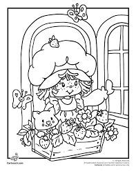 Strawberry Shortcake Coloring Pages Classic Page Cartoon Jr