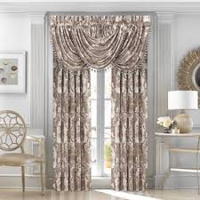 j queen new york crystal palace 84 inch rod pocket window