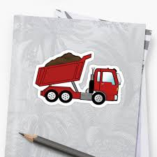 Red Construction Dump Truck