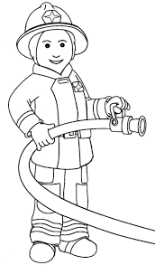 Coloring Pages Fireman Fire Fighter Sesame Street Ernie The Firefighter Hat C Free