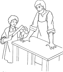 Remarkable Saint Joseph Coloring Page With Pages And Preschool