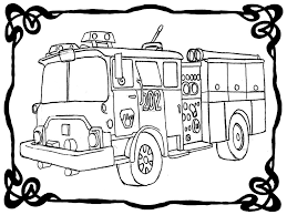 Coloring Page Fire Truck. Excellent Fireman Sam Checking Fire Truck ...