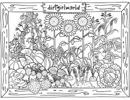 Vegetable Garden Coloring Page