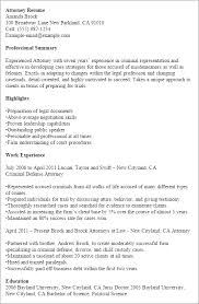 1 Attorney Resume Templates Try Them Now