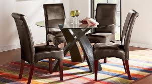 Glass Top Dining Room Table Sets With Chairs