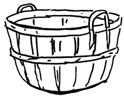 Awesome Collection Of Empty Fruit Basket Coloring Pages Also Reference
