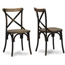 baxton studio konstanze industrial walnut wood and metal dining