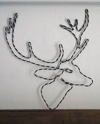 2D Wire Reindeer Head