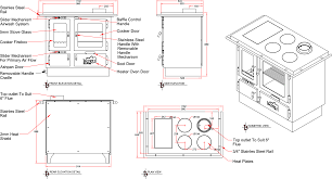 An Image Of The Ellis Cook Stove Drawings
