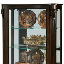Pulaski Concave Corner Curio Cabinet by Amazon Com Pulaski Mantel Curio 33 By 15 By 56 Inch Brown