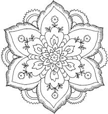 Free Coloring Pages No Download Beautiful Adults Print Nature Flower Mandala For Large Size