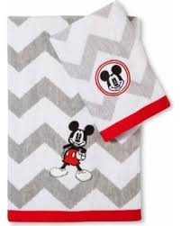 Disney Character Bathroom Sets by Sweet Deal On Disney Mickey Mouse Chevron Bath Towel Set Gray White
