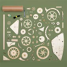 Free Scroll Saw Wooden Gear Clock Plans by Wooden Mechanical Clock Kit Mechanical Clock Clocks And Wooden