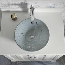 Kohler Vox Sink Images by Kohler Vessel Sink With Overflow Vox Rectangle Glass Drain