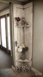 Door Wall Decor & Antique Door Hung As Wall Decor