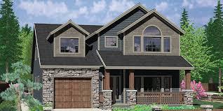 Small Narrow House Plans Colors Narrow Lot House Plans Traditional Tandem Garage 3 Bedroom Bonus