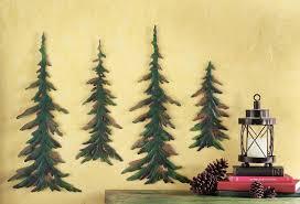 Amazon Evergreen Pine Tree Metal Wall Decor Set Of 4 Home Kitchen