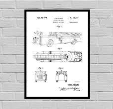 100 Fire Truck Wall Art Truck Patent Truck Poster Truck Print Truck Truck