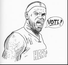 amazing lebron james coloring page heat images and pictures becuo