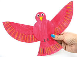 Make A Bird From Paper Plate