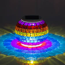 zitrades solar powered mosaic glass color changing solar
