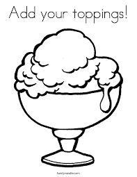 Add Your Toppings Coloring Page