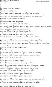 Rhinoceros Smashing Pumpkins Tab by Song Lyrics With Guitar Chords For Against The Wind Learn Guitar