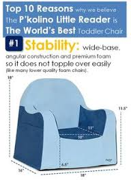p kolino little reader toddler chair with premium embroidered blue