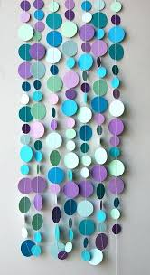 Wall Decoration Ideas With Papers Bubbles Party Mermaid Birthday Garland
