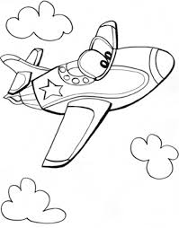 Fantastic Preschool Airplane Coloring Pages With Page And To Print For