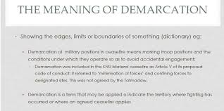 Demarcation Of Military Positions
