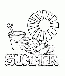 Coloring Summer Pages Free Sheets For Adults Disney