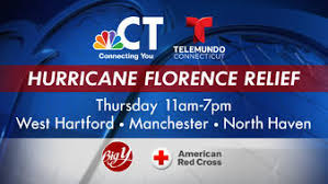 Hurricane Florence Relief NBC CT Holding Drive Thursday