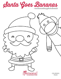 Printable Sock Monkey Holiday Coloring Pages Photobomb