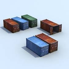 100 Shipping Container Model ISO S X3 3D 12 Unknown Dae Max